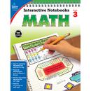 Carson Dellosa CD-104648 Interactive Notebooks Math Gr 3