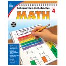 Carson Dellosa CD-104649 Interactive Notebooks Math Gr 4