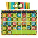 Carson Dellosa CD-110214 Stylin Stripes Spanish Calendar