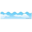Carson Dellosa CD-1220 Border Clouds Scalloped