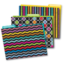 Carson Dellosa CD-136006 Colorful Chalkboard Folders