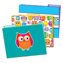 Carson Dellosa CD-136009 Colorful Owls Folders
