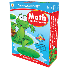 Carson Dellosa CD-140050 Math Learning Games Gr K Centersolutions, Price/EA