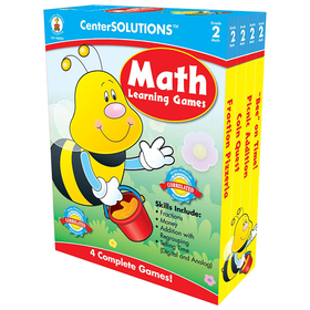Carson Dellosa CD-140052 Math Learning Games Gr 2 Centersolutions, Price/EA