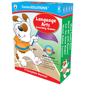 Carson Dellosa CD-140053 Language Arts Learning Games Gr K Centersolutions, Price/EA