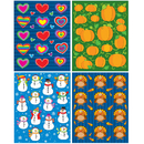 Carson Dellosa CD-144199 Seasonal Shape Stickers Set
