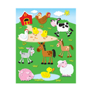 Carson Dellosa CD-168020 Farm Shape Stickers 72Pk