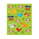 Carson Dellosa CD-168026 Woodland Animals Shape Stickers 84Pk
