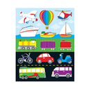 Carson Dellosa CD-168027 Transportation Shape Stickers 84Pk