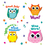 Carson Dellosa CD-168144 Colorful Owl Motivators