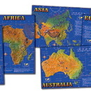 Carson Dellosa CD-1948 Bb Set Seven Continents Of World 7 Physical Maps 17 X 24