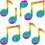Carson Dellosa CD-2913 Dazzle Stickers Music Notes 105-Pk