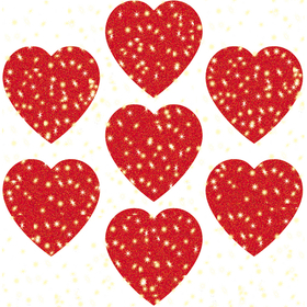Carson Dellosa CD-2946 Dazzle Stickers Hearts Red 75-Pk, Price/EA