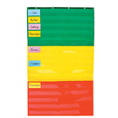 Carson Dellosa CD-5642 Pocket Chart Adjustable 34 X 60