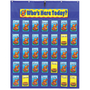 Carson Dellosa CD-5644 Pocket Chart Attendance/Multiuse 30X38 & Up Student Cards & Header