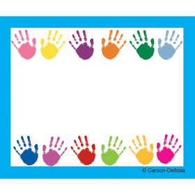 Carson Dellosa CD-9413 Name Tags Handprints 40/Pk Self-Adhesive, Price/EA