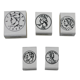 Center Enterprises CE-103 Stamp Set Coins Heads 5/Pk, Price/EA