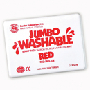 Center Enterprises CE-5505 Jumbo Stamp Pad Red Washable