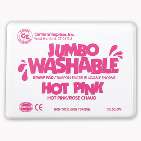 Center Enterprises CE-5509 Jumbo Stamp Pad Hot Pink Washable, Price/EA