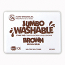 Center Enterprises CE-5511 Jumbo Stamp Pad Brown Washable