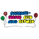 Center Enterprises CE-C384 Stamp Parents Please Sign & Return Balloons