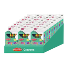 Charles Leonard CHL42024ST 24 Boxes Of 24 Crayons Asstd Colors