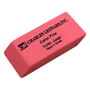 Charles Leonard CHL71502 12/Bx Synthetic Pink Wedge Erasers Large