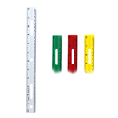 Charles Leonard CHL77412 12In Plastic Ruler Assorted Colors