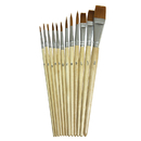 Chenille Kraft CK-5136 Watercolor Brushes 12Pk Assorted Sizes