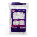 Chenille Kraft CK-6400 Craft Fluffs White 100/Pk
