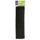 Chenille Kraft CK-71123 Chenille Stems Black 12 Inch