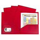 C-Line Products CLI32954 Red Two Pocket Poly Portfolios