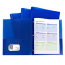C-Line Products CLI32965 Blue Two Pocket Poly Portfolios