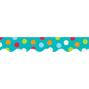Creative Teaching Press CTP1038 Dots On Turquoise Wavy Border