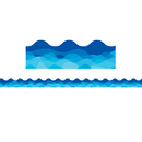 Creative Teaching Press CTP1936 Waves Of Blue Wavy Border