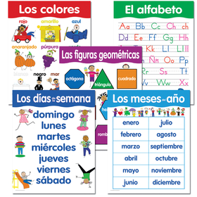 Creative Teaching Press CTP5792 Spanish Basic Skills 5 Chart Pack, Price/EA