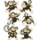 Creative Teaching Press CTP6431 Monkeys 6In Designer Cut Outs