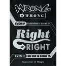 Creative Teaching Press CTP6697 Wrong Is Wrong Even If Poster
