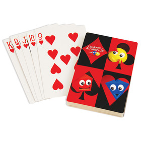 Learning Advantage CTU7658 Giant Playing Cards 4.25 X 7.75In, Price/EA