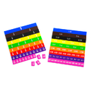 Learning Advantage CTU7669 Fraction & Decimal Tiles In Tray