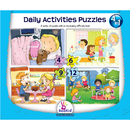 Dexter Educational Toys DEX1917 Daily Activities 4 In 1 Puzzles