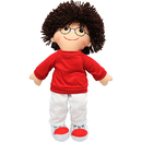 Dexter Educational Toys DEX304B 19 Soft Cuddly Doll W/ Glasses Boy