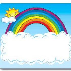 Carson Dellosa DJ-650005 Name Tags Sun N Rainbow, Price/EA