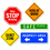 Dowling Magnets DO-735210 School Signs Magnet Set
