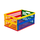 Early Childhood Resources ELR0170 Collapsible Crates Ventilated Sides Large Multi-Colored