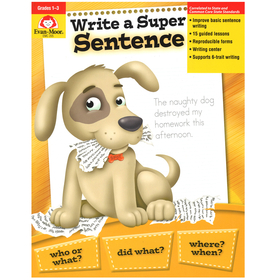 Evan-Moor EMC205 Write A Super Sentence Gr 1-3, Price/EA