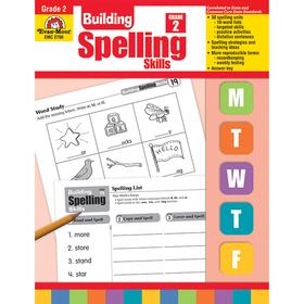 Evan-Moor EMC2706 Building Spelling Skills Gr 2, Price/EA