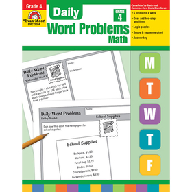 Evan-Moor EMC3004 Daily Word Problems Gr 4, Price/EA