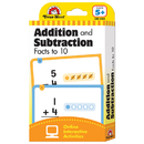 Evan-Moor EMC4168 Flashcard Set Addition And - Subtraction Fact To 10