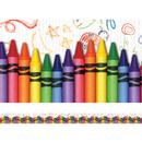 Edupress EP-3269 Crayons Layered Border